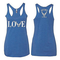 Love Air Force Wife Women's Triblend Tanktop