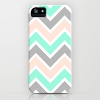MUTED CHEVRON iPhone Case by nataliesales   Society6