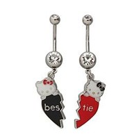 Hello Kitty 14G Bestie Curved Navel Barbell 2 Pack - 500863