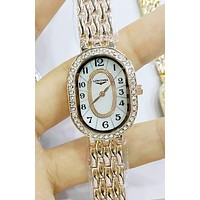 LONGINES Stylish Ladies Personality Diamond Delicate And Cabinet Quartz Watch Watch Wrist Rose Gold I-YF-GZYFBY