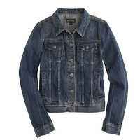 J.Crew Womens Vintage Denim Jacket In Recycled Indigo Wash