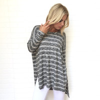Front Lines Stripe Tunic Top