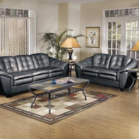 Serta Upholstery Stetson Black Sofa and Loveseat