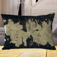 """map Game of Thrones on rectangle pillow cover 26"""" 30"""" 36"""""""