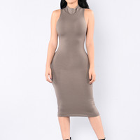 Sienna Dress - Purple Grey