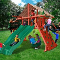 Gorilla Playsets Sun Climber Extreme Wooden Swing Set