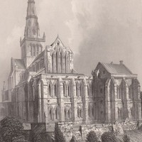 Antique Print Glasgow Cathedral Scotland East View (A9) by Grandpa's Market