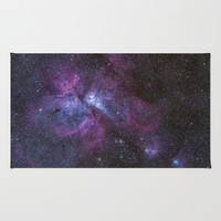 Galaxy Area & Throw Rug by Sara Khaled