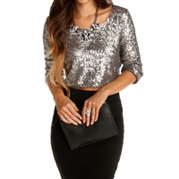 Sale-charcoal Life Of The Party Top