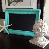 Vintage Wood Frame UpCycled to Chalkboard by ColorfulHomeDesigns