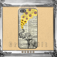 Sunflower, Elephant, iPhone 5s case iPhone 5C Case iPhone 5 case iPhone 4 Case iPhone Samsung Galaxy S4 case Galaxy S3 ifg-50805