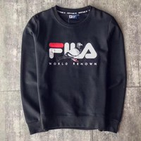 FILA Fashion Embroidery Round Neck Top Sweater Pullover