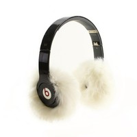 EarMuffies - fur earmuff covers for headphones - SMALL Rabbit White (Fits Beats SoloHD/Wireless/Mixr and other popular headphones)