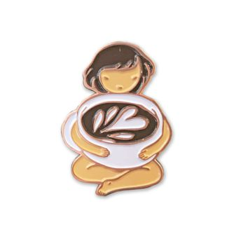 Latte Love Enamel Pin