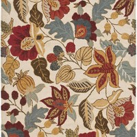 Blossom Country & Floral Indoor Area Rug Ivory / Multi