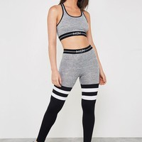 MDV Banded Colour Block Legging - Grey Marl