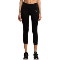 Active Style Elastic Waist Solid Color Sport Leggings For Women