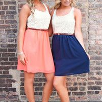 Valley Fair Dress - Navy