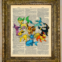 Eevee Evolution Dictionary Art