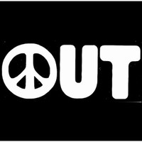 Peace Sign Car Window Decal -  Peace Out Decal - Peace Window Sticker