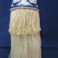 Asian Tassel Blue Willow Porcelain Home Decor Ceramic Decoration Vintage blm