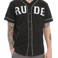 RUDE Black Athletic Woven