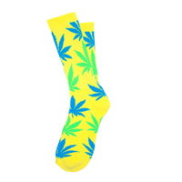 Huf: Neon Plantlife Socks - Yellow (FW14)