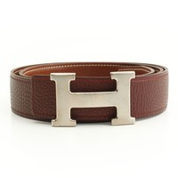 AUTHENTIC HERMES CONSTANCE H BELT E BROWN GRADE B USED -AT