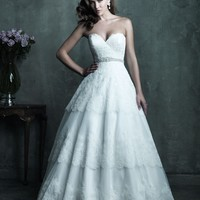 Allure Couture C285 Layered Lace Wedding Dress