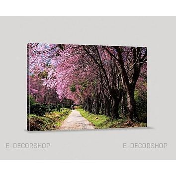 Almond Tree Canvas Print Cherry Blossom Canvas Print Large Canvas Print Hang Ready Custom