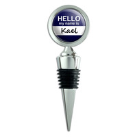 Kael Hello My Name Is Wine Bottle Stopper