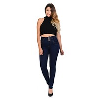 M.Michel Women's Jeans Colombian Design, Butt Lift, Levanta Cola, Push Up - Skinny - Style A10045-1