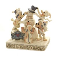 Jim Shore FROSTY FRIENDSHIP Polyresin Mickey Donald Pluto Daisy 6002828