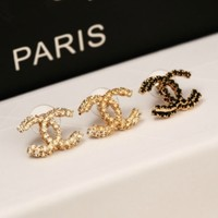 iOffer: white crystal or gold crystal or black crystal earring for sale