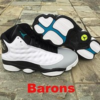 Samplefine2 Nike Air Jordan 13 Barons Fashion Retro Men Women Sport Basketball Shoes AJ13