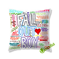 Fall Out Boy Songs Square Pillow Cover