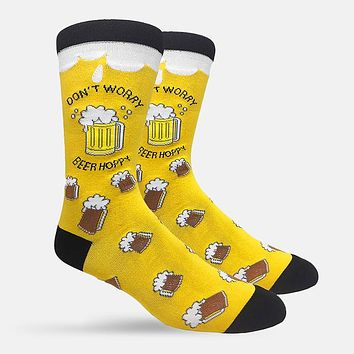 Don't Worry Beer Hoppy Casual Socks