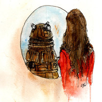 "Doctor Who ""I'm Human"" 5x7 Print of my original illustration inspired by ""Asylum of the Daleks"