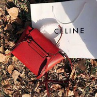 Celine Tide brand women's lychee pattern shoulder bag handbag Messenger bag