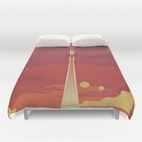 Atomic Sky Duvet Cover by The Art Of Danny Haas