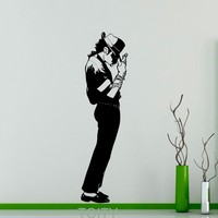 Michael Jackson Wall Sticker King of Pop Star Vinyl Decal Art Decor Music Home Interior Room Retro Mural Design