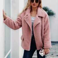 Newest Womens Winter And Autumn Casual Fake Fur Jackets New Design Man-Made Fur Coats S/3Xl Female Elegant Fur Clothes J2517