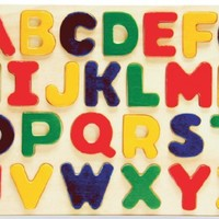 Puzzled Alphabet Raised Wooden Puzzle for Children