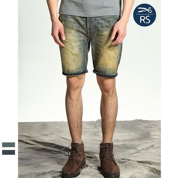 Men's Fashion Summer Strong Character Fashion Ripped Holes Weathered Jeans [10422072451]