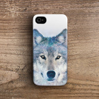 Wolf iPhone 4 case, wolf iphone 5 case  iPhone 4s case animal iphone 4 case animal iphone 5 case galaxy iphone 4 case snow wolf /c204
