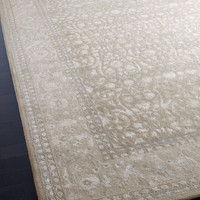 """Noelle"" Rug - Horchow - A classic Persian design is reinvented for today's decor. Handmade of wool and viscose."