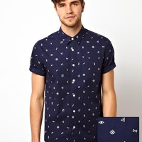 ASOS Shirt in Short Sleeve with Ditsy Print
