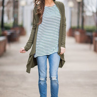 Survive And Thrive Cardigan, Olive