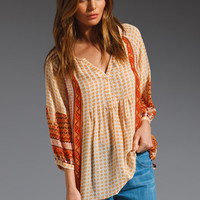 Joie Henry Blouse in Fiery Red from REVOLVEclothing.com