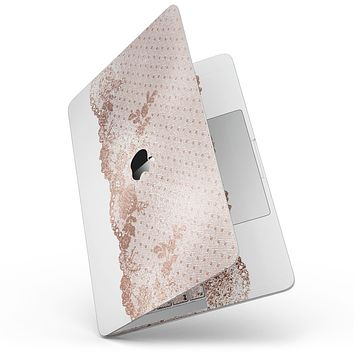 """Rose Gold Lace Pattern 6 - 13"""" MacBook Pro without Touch Bar Skin Kit"""